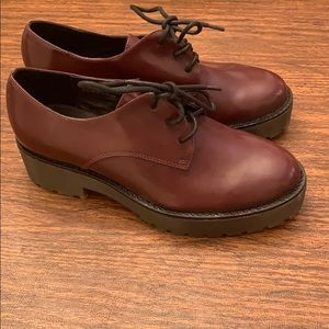 Topshop burgundy loafers size 37